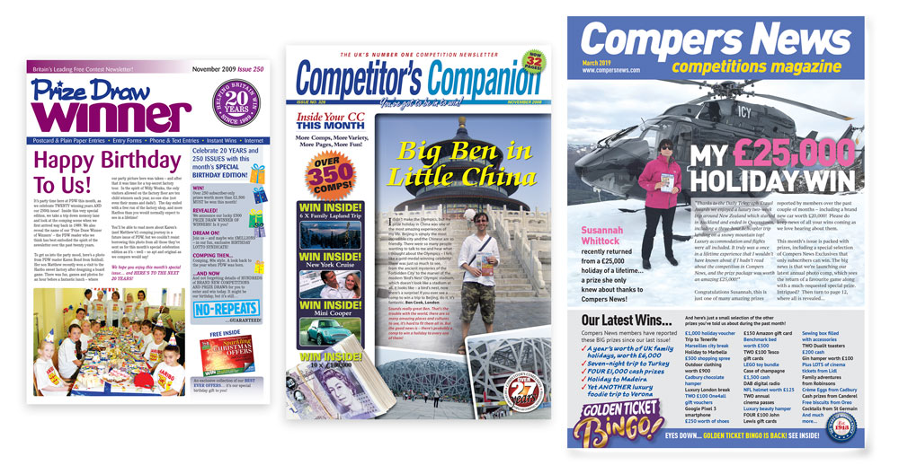 Compers News, Competitor's Companion and Prize Draw Winner